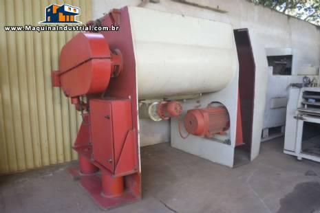 Misturador / Masseira industrial para 1000 kg com 2 eixos