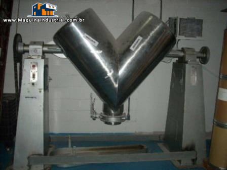Misturador em Y industrial para  600 litros em aço inox