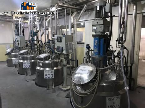 Reatores de pressão para 1.500 kg Rodrinox