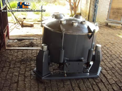 Centrífuga de cesto industrial marca PANA aço inox AISI 316L