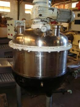 Reator em aço inox capacidade 200 litros encamisado