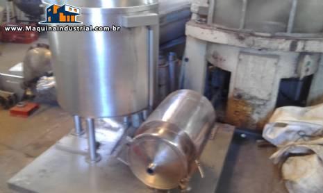 Misturador em aço inox com rosca e bomba de transferência de recheio de biscoito