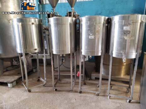 Tanque em aço inox para 100 litros