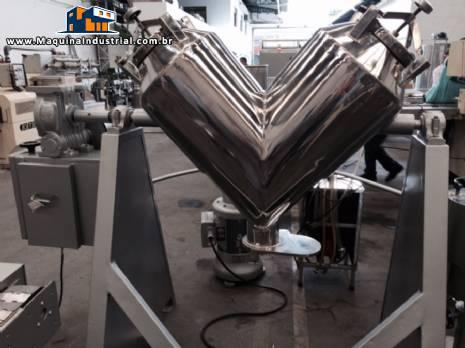 Misturador industrial em V aço inox - N