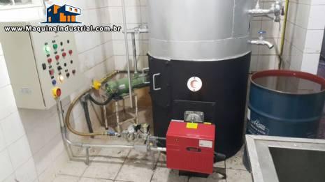 Caldeira a gás para 250 kg hora